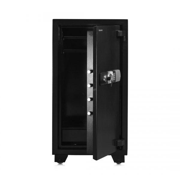 گاوصندوق راینو مدل bx90 مشکی درب نیمه باز
